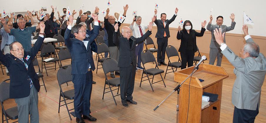 한인회 76주년 광복절 기념식 거행